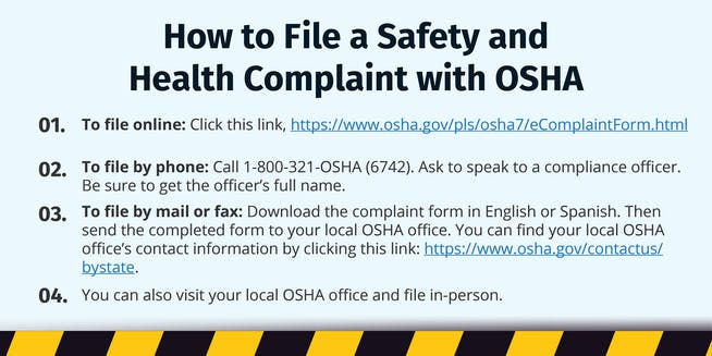 How to File a Safety and Health Complaint with OSHA