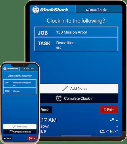ClockShark KioskClock™ - Get More Accurate Job Costing