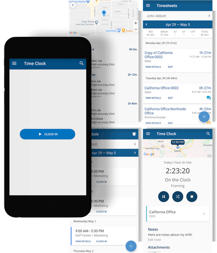 ClockShark Mobile Time Tracking - Give supervisors and managers the ability to track employee time from their mobile device