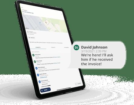 ClockShark JobFlow -Discuss jobs and share files with anyone