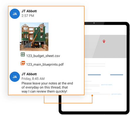 ClockShark Conversations - Receive constant updates for any conversation