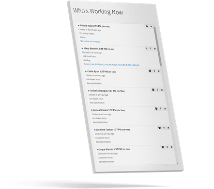 Who's Working Now? - View actively working employees in an up-to-date list