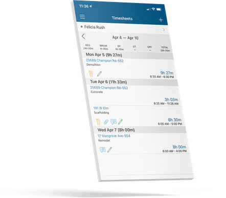 ClockShark Mobile Time Tracking - Track employee time without a cell tower or signal