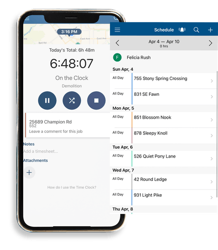 ClockShark Mobile Time Tracking - Sync hours worked with tasks and jobs completed