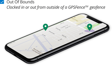 GPS Tracking - Create a geofence around every job site with reminders for employees