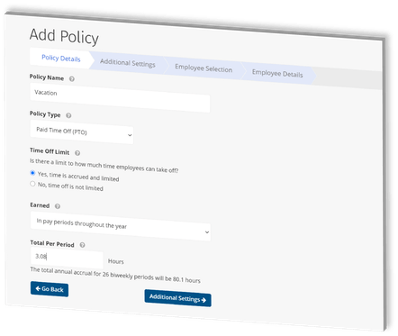 ClockShark Employee Time Off - Create your policy in 90 seconds