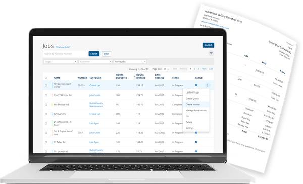 ClockShark Invoices