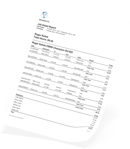 ClockShark Timesheet Reporting - Don't let your Job Costing cost you