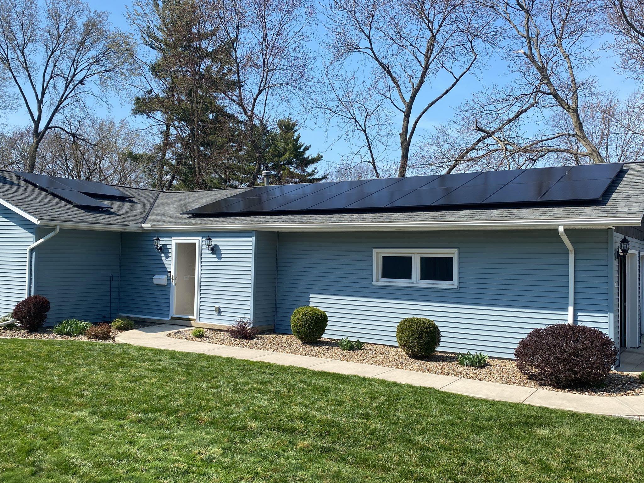 Appalachian Renewable Power Systems solar panel installation on house