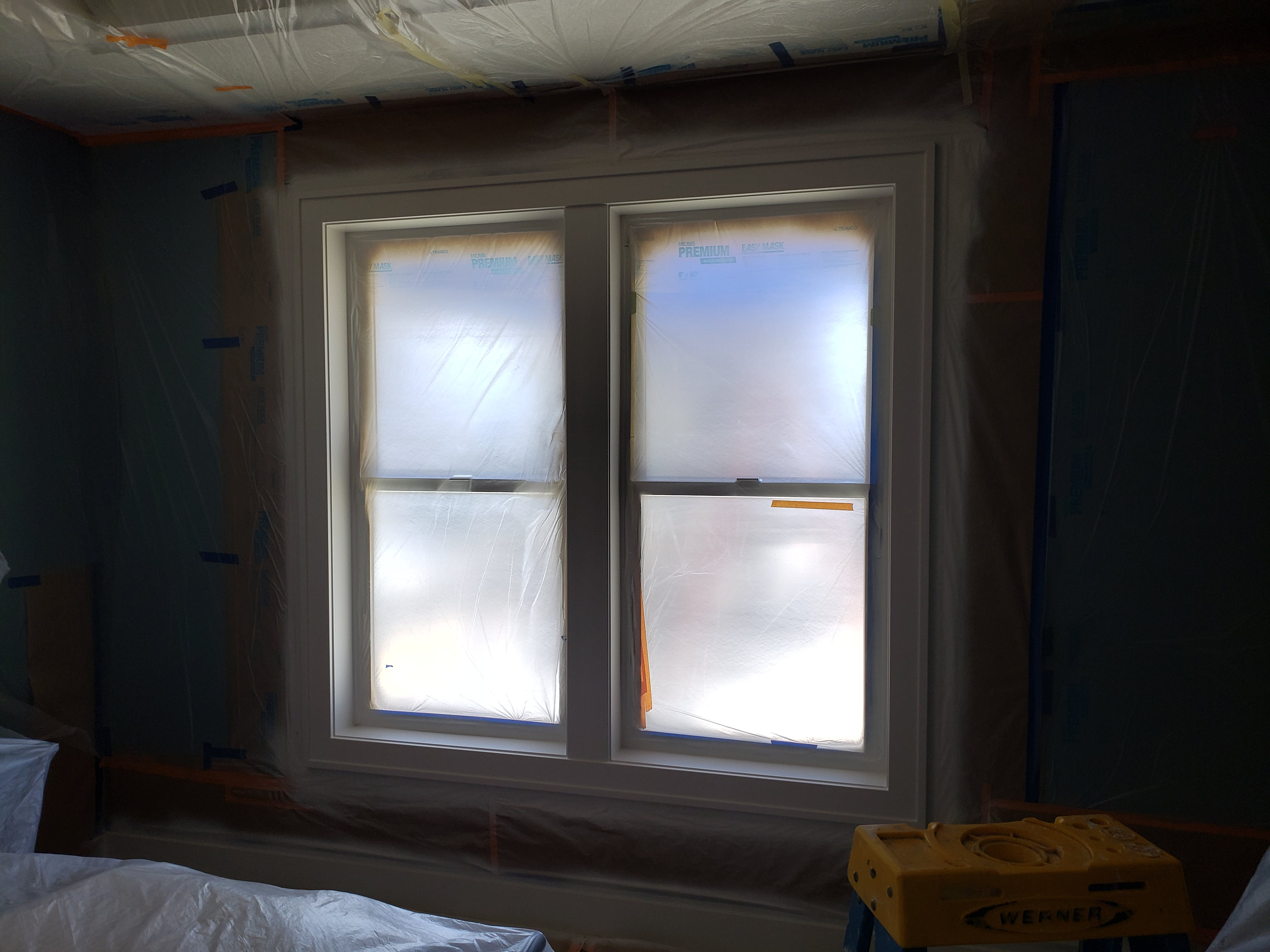 Refined Painting Services painting interior window sills with coverings