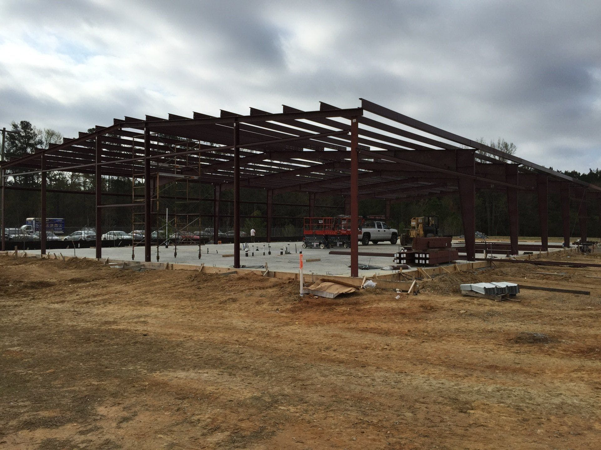 Stewart Group Enterprises LLC building a outdoor structure