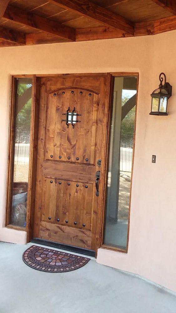 New front door to a happy customer of bear down builders in Tucson, AZ