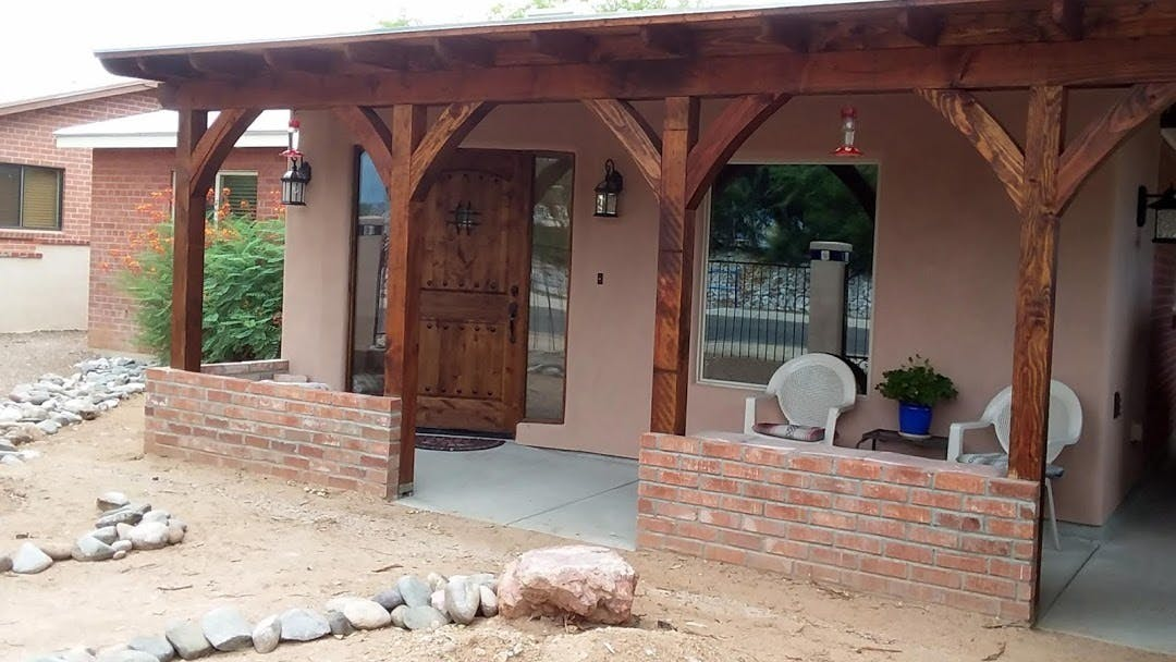 Bear down builders builds a new addition to the front of a customers house from scratch.