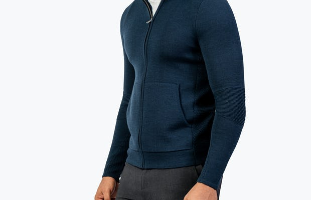 Men's Atlas Merino Full Zip - Navy - Image 6