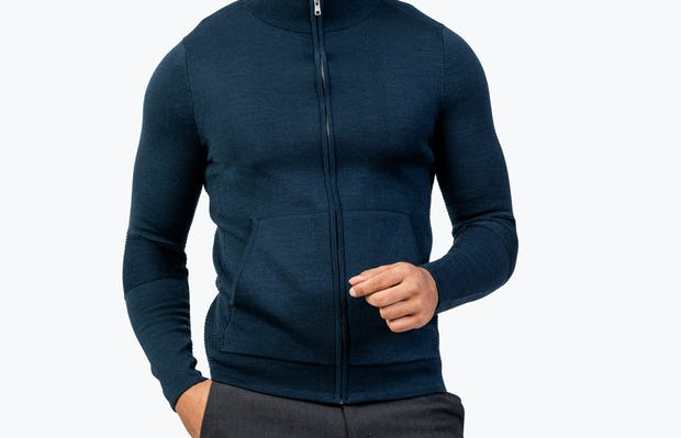 Men's Atlas Merino Full Zip - Navy - Image 5