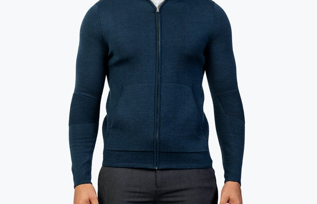 Men's Atlas Merino Full Zip - Navy - Image 1