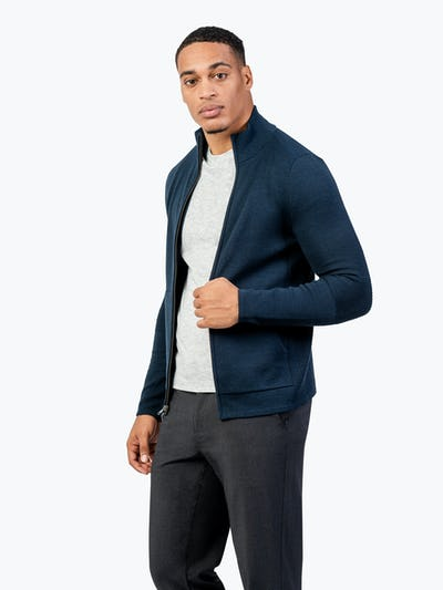 Men's Atlas Merino Full Zip - Navy - Main Image