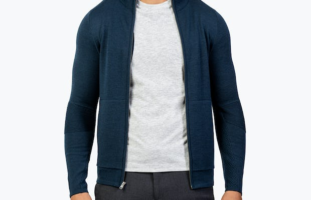 Men's Atlas Merino Full Zip - Navy - Image 3