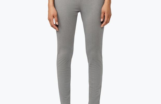 Women's Grey Heather Kinetic Skinny Pants on Model Facing Forward