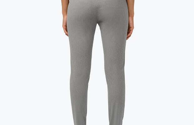 Women's Grey Heather Kinetic Skinny Pants on Model Facing Backward