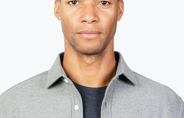 Men's Grey Fusion Overshirt headshot