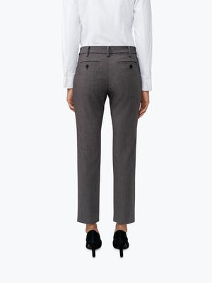 Women's Charcoal Heather Velocity Classic Crop Pant on Model Facing Backward