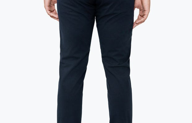 Men's Navy Momentum Chino on Model Facing Backward