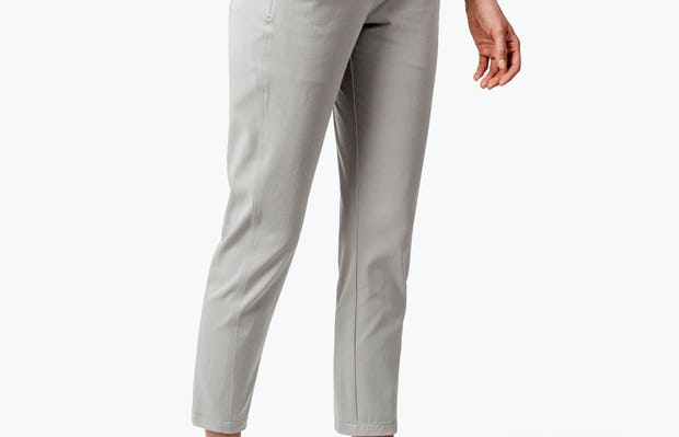 Women's Stone Momentum Chino on Model with Hand in Her Right Pocket