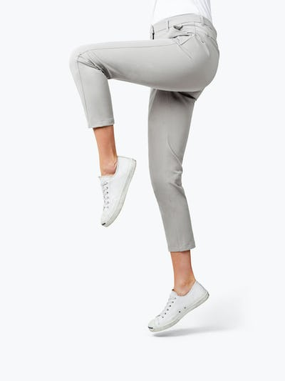 Women's Stone Momentum Chino on Model Raising Her Left Leg