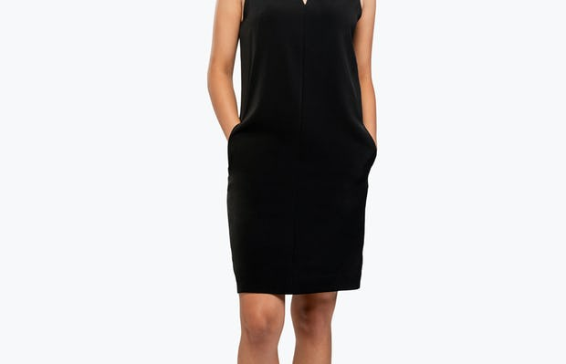 Women's Swift Sleeveless Dress - Black - Image 3