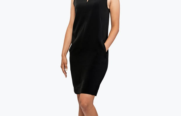 Women's Swift Sleeveless Dress - Black - Image 4