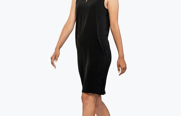 Women's Swift Sleeveless Dress - Black - Image 2