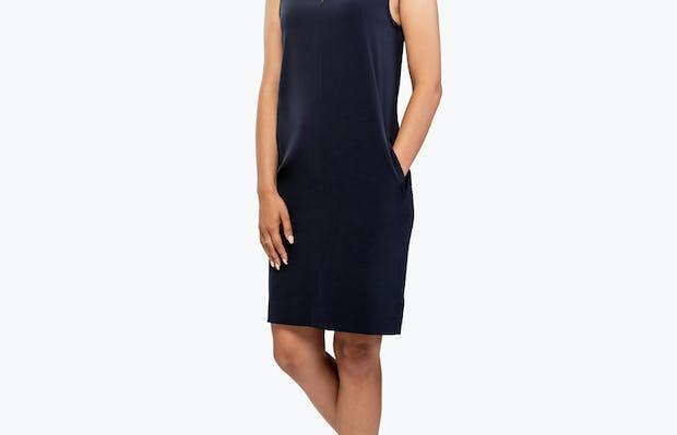 Women's Swift Sleeveless Dress - Navy - Image 3