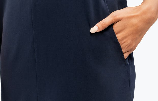 Women's Swift Sleeveless Dress - Navy - Image 1