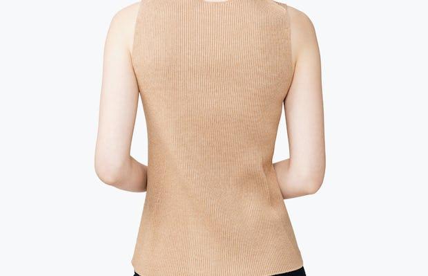 Women's 3D Print-Knit Tank - Latte - Image 6