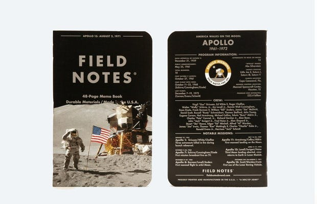 "Field Notes ""Three Missions"" 3 Pack — Apollo Notebook"
