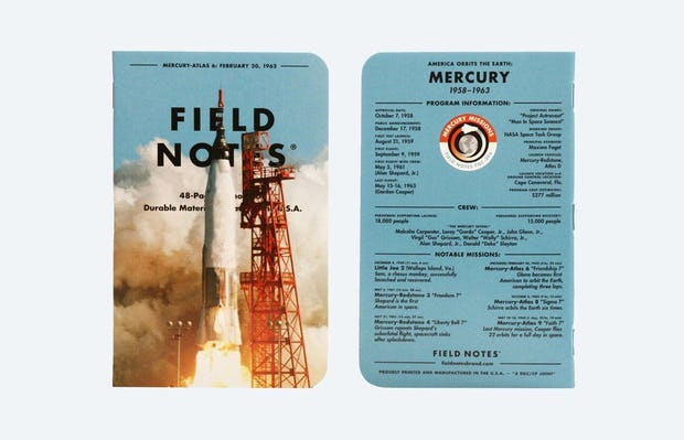 "Field Notes ""Three Missions"" 3 Pack — Mercury Notebook"