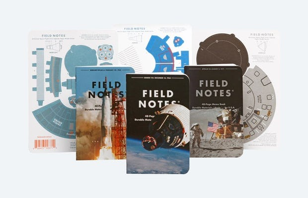 "Field Notes ""Three Missions"" 3 Pack — Notebooks and Models"