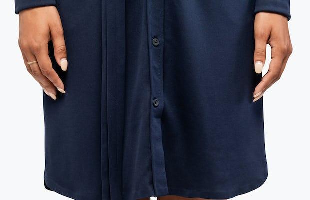 Women's Apollo Shirt Dress - Navy - Image 6