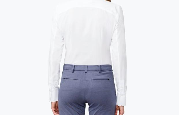 Women's Juno Tailored Dress Shirt - White - Image 5