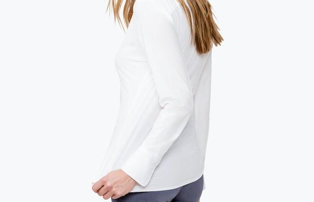 Women's Juno Tailored Dress Shirt - White - Image 2