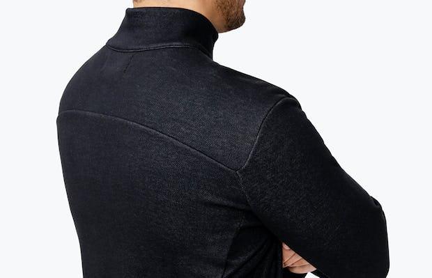 Men's Hybrid Fleece 1/4 Zip - Black - Image 4