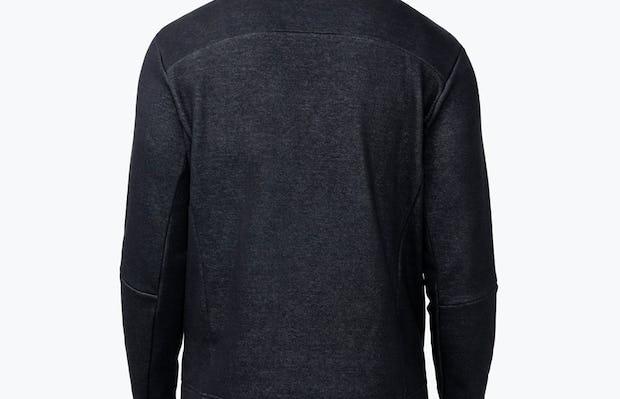 Men's Hybrid Fleece 1/4 Zip - Black - Image 5
