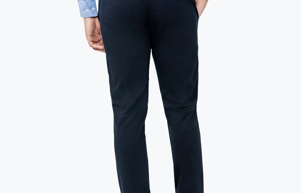 Men's Navy Momentum Chino on Model Walking Backward