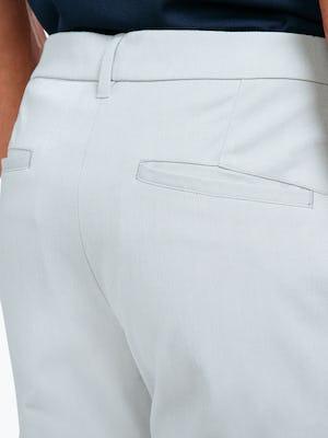 Men's Stone Momentum Chino on Model Facing Backward in Close-Up of Back Pocket