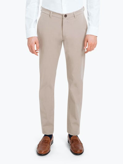 Men's Khaki Momentum Chino on Model Facing Forward