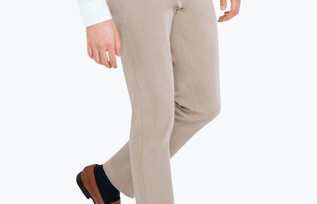 Men's Khaki Momentum Chino on Model Walking Left