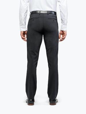 Men's Dark Charcoal Velocity Dress Pant on Model Facing Backward