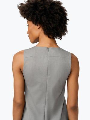Women's Grey Heather Kinetic A-Line Dress on Model Facing Backward