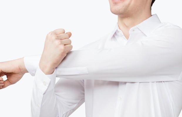 Men's Apollo Dress Shirt - White - Image 8